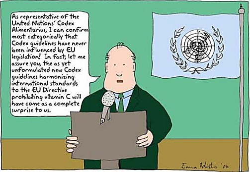 Codex Alimentarius cartoon